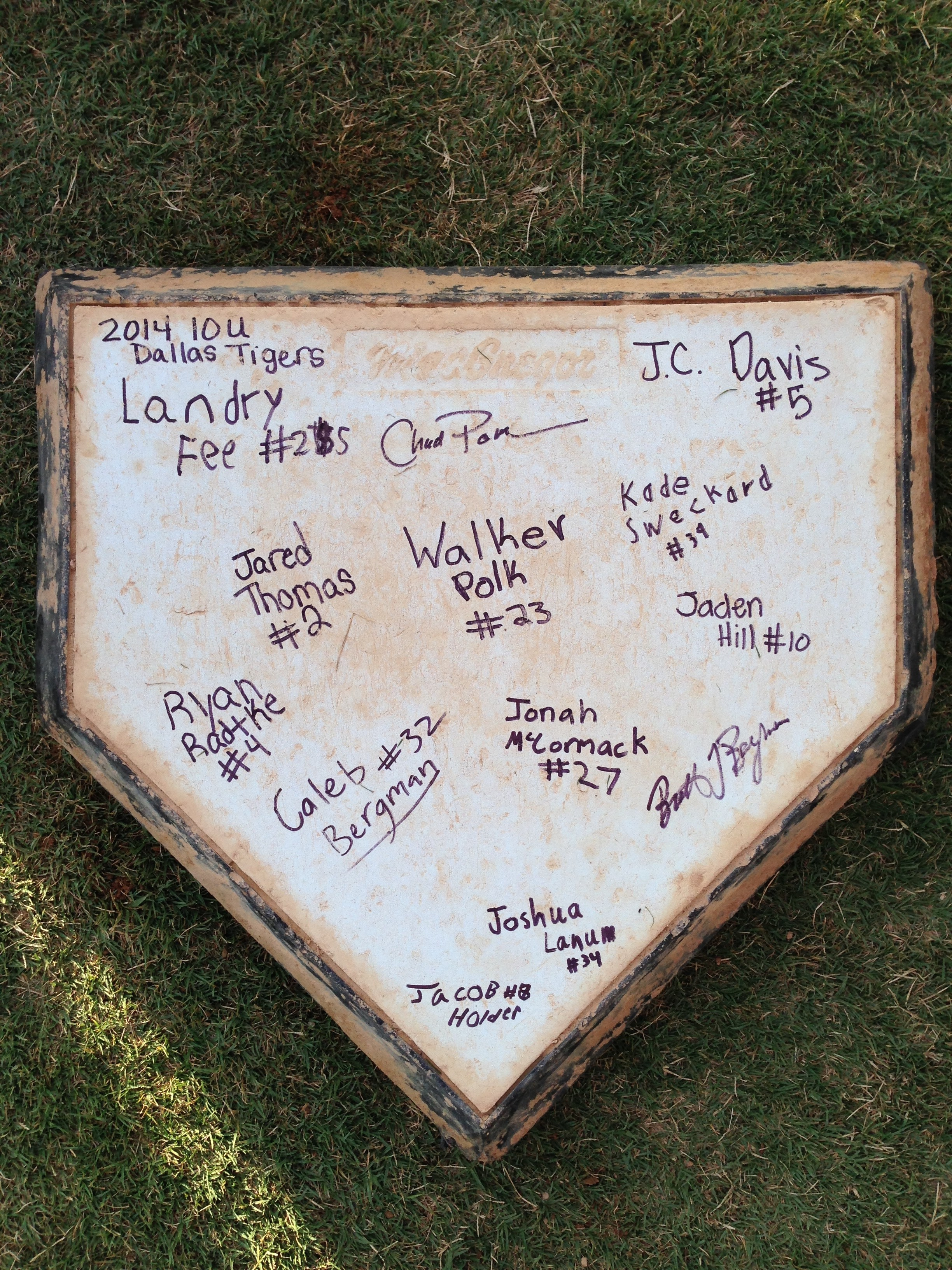autographed homeplate