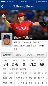 Shawn Tolleson - baseball