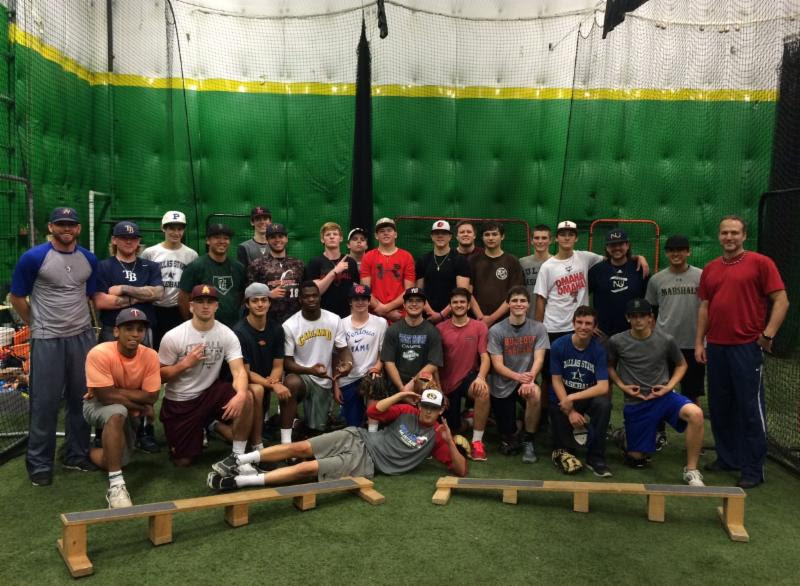 Paul Ahearne pitching camp